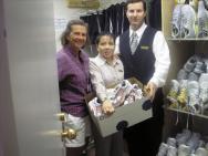 Fairmont Hotel donates althletic gear